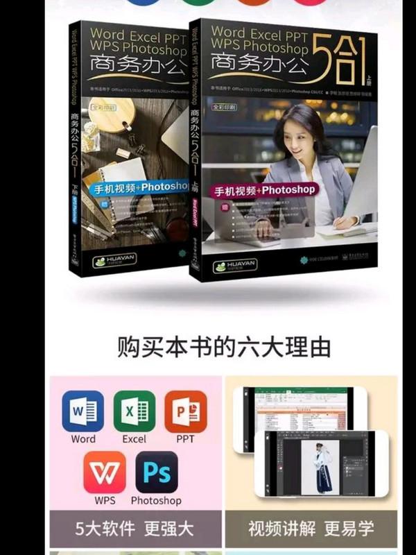 Word/Excel/PPT/WPS/Photoshop商务办公5合1